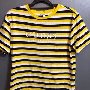 New Guess x UO stripped embroidered T-shirt